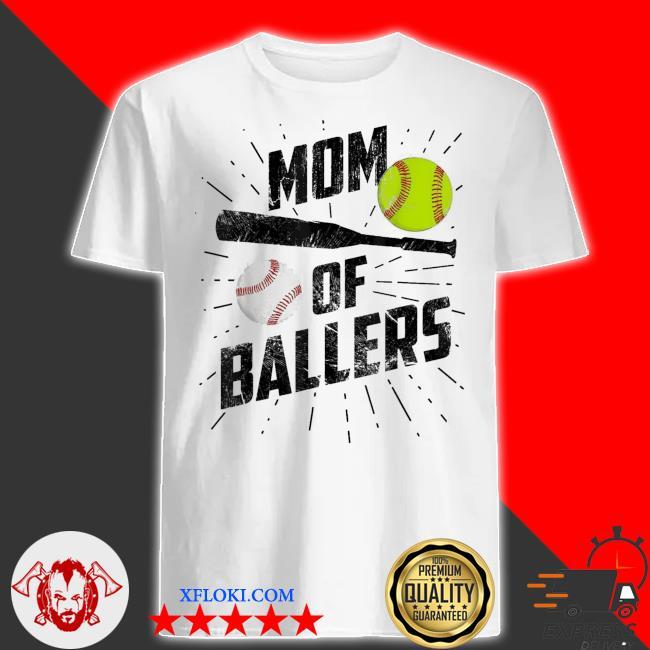 Mom of ballers funny baseball softball game mothers day us 2021 shirt