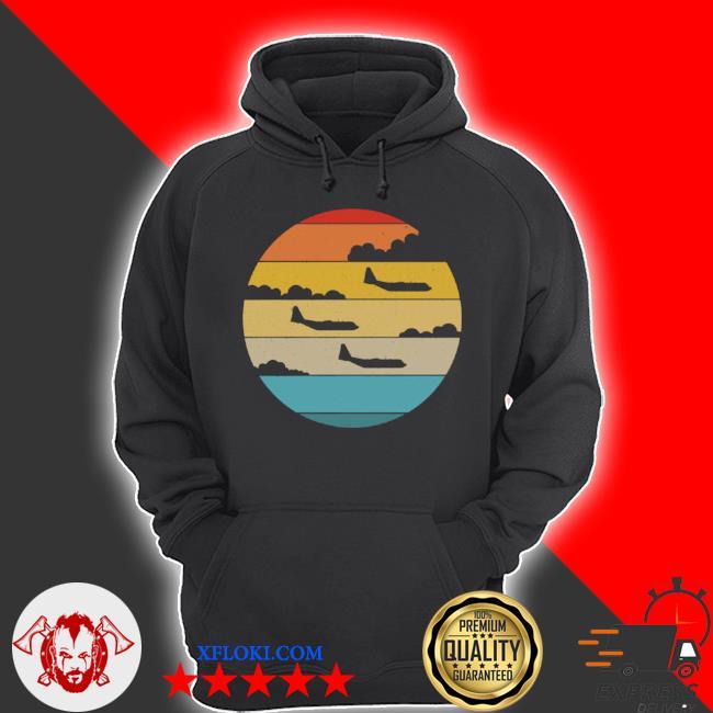 C130 hercules silhouette retro sunset airplane flying c130 s hoodie