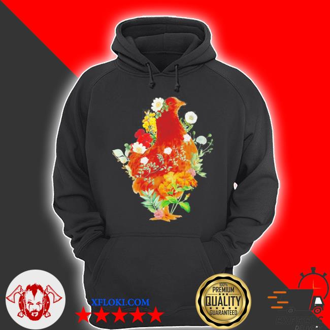 Cute chicken vintage floral botanical flower garden new 2021 2021 s hoodie