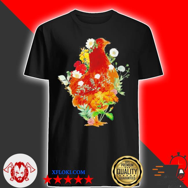 Cute chicken vintage floral botanical flower garden new 2021 2021 shirt