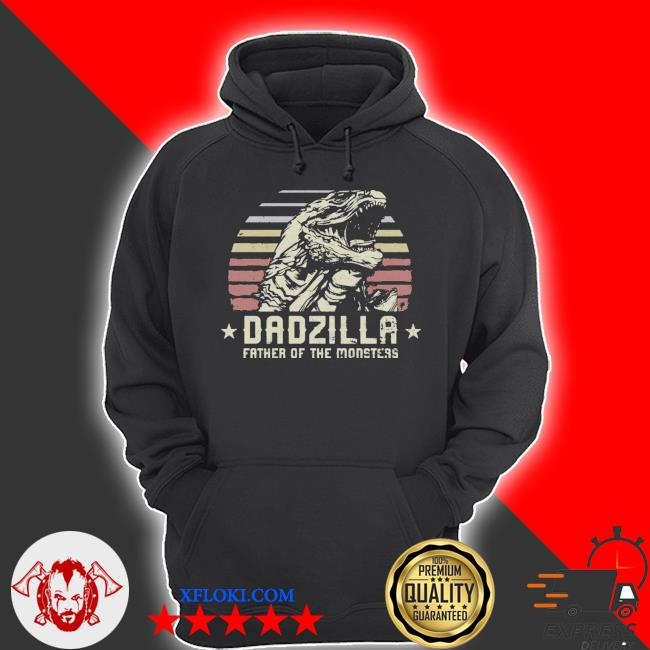 Dadzilla father of the monsters retro vintage happy fathers day 2021 s hoodie