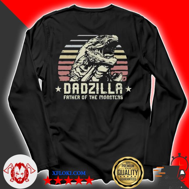 Dadzilla father of the monsters retro vintage happy fathers day 2021 s longsleeve