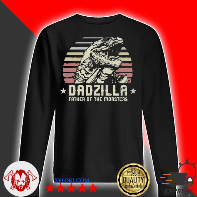 Dadzilla father of the monsters retro vintage happy fathers day 2021 s sweater