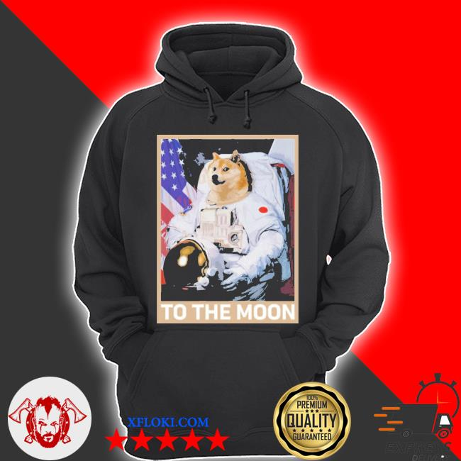 Dogecoin astronaut to the moon blockchain hold crypto new 2021 s hoodie