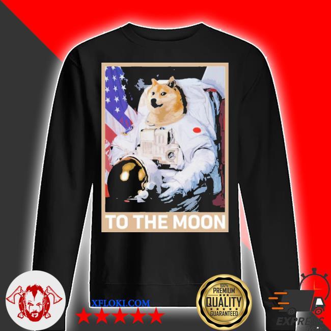 Dogecoin astronaut to the moon blockchain hold crypto new 2021 s sweater