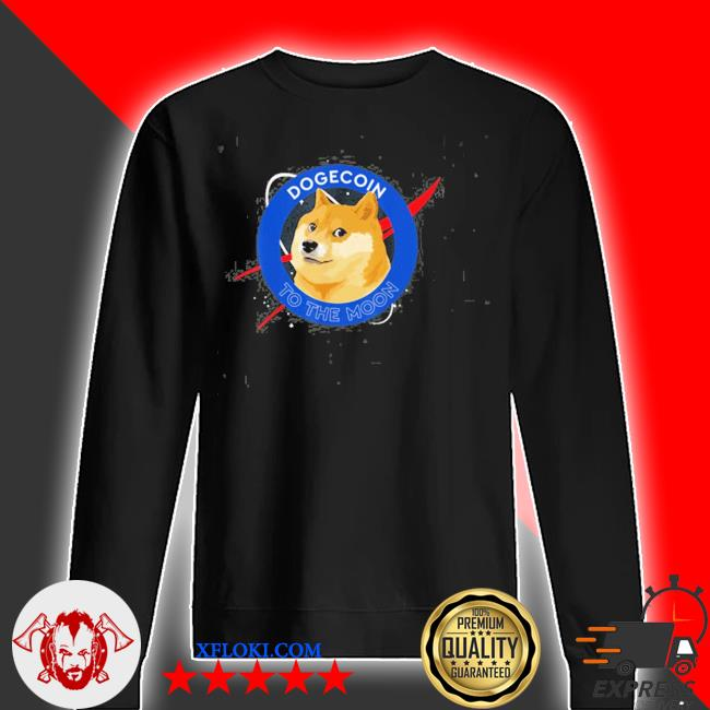 Dogecoin to the moon funny crypto meme new 2021 s sweater
