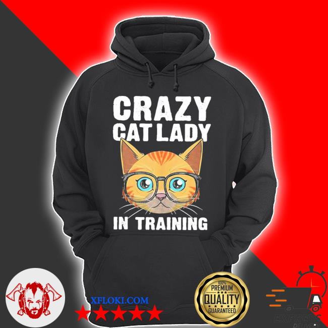 Funny crazy cat lady girls cool cat new 2021 s hoodie