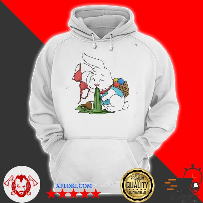 Funny easter happy easter bunny drinking easter new 2021 s hoodie