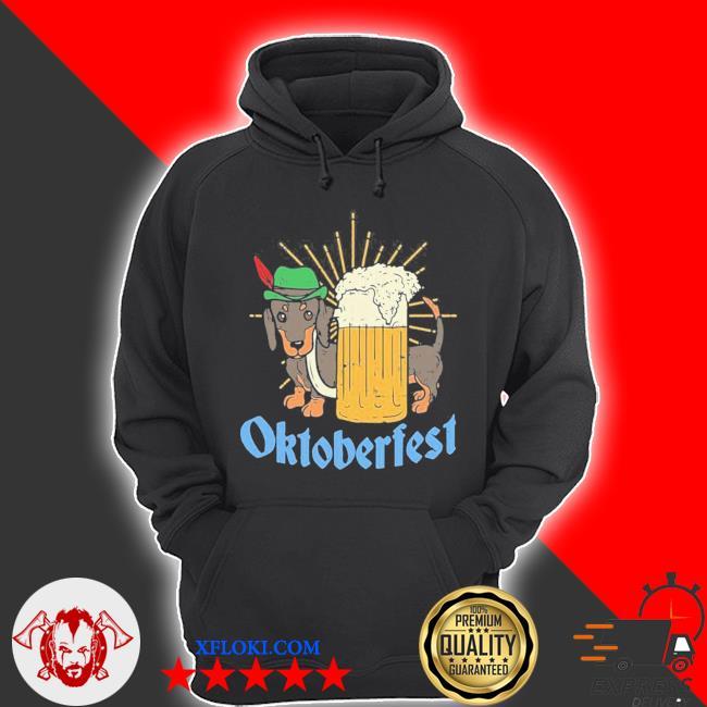 Funny Oktoberfest German Dachshund Dog Drinking Beer new 2021 Shirt hoodie