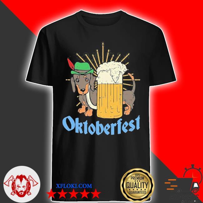 Funny Oktoberfest German Dachshund Dog Drinking Beer new 2021 Shirt