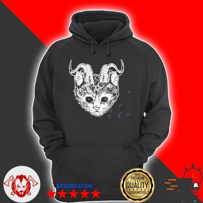 Hail Satan cat funny devil cat s hoodie