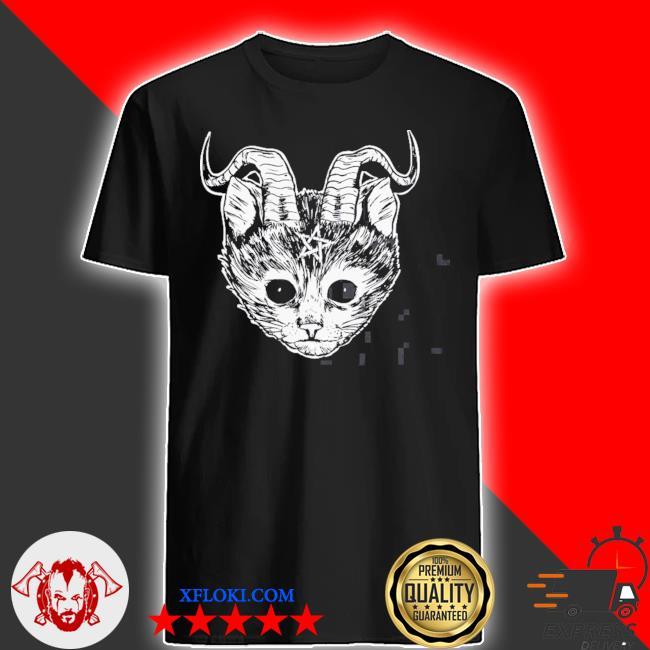 Hail Satan cat funny devil cat shirt