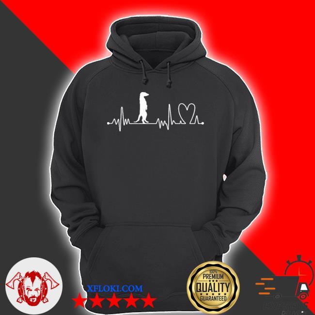 Heartbeat heart beat frequency ecg meerkat new 2021 s hoodie