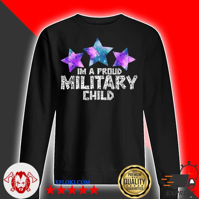 I'm a military kid month of the military child army soldier s sweater