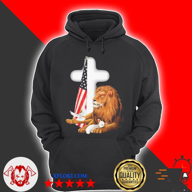 Lion and american flag new 2021 s hoodie