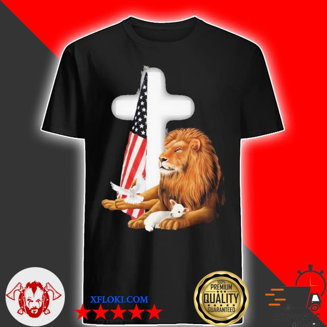 Lion and american flag new 2021 shirt