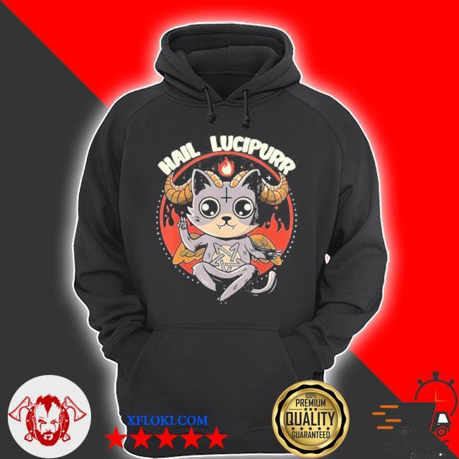 Lucipurr inspired baphomet cat related devil kitty design new 2021 s hoodie