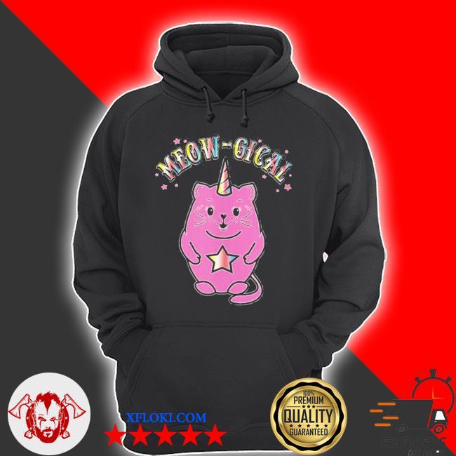Meowgical caticorn magical cute cat unicorn new 2021 s hoodie