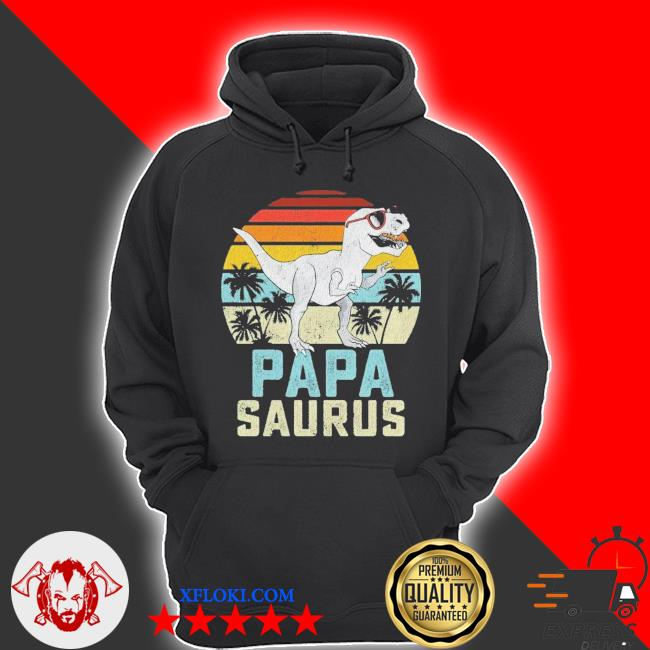 Papasaurus trex dinosaur papa saurus family matching vintage fathers day s hoodie
