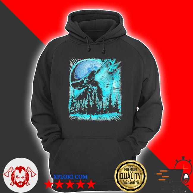 Psychedelic wolf howling at the moon for wolfs new 2021 s hoodie