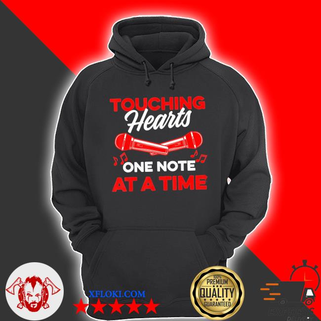 Touching hearts one note at a time for music teacher new 2021 s hoodie