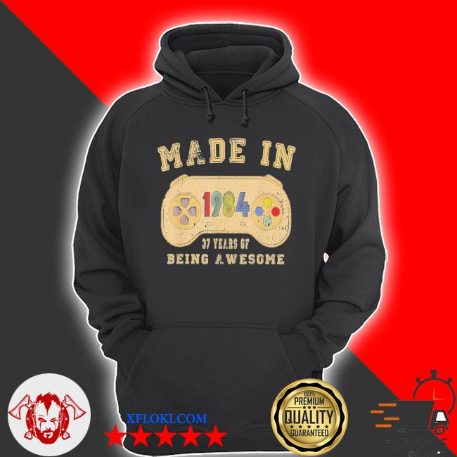 Vintage made in 1984 video game 37th birthday new 2021 s hoodie