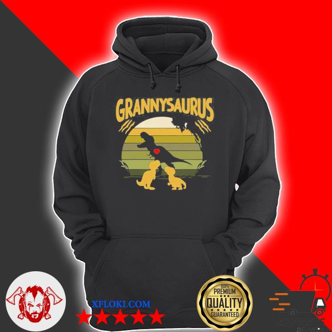 Vintage retro 2 granny saurus dinosaur new 2021 s hoodie
