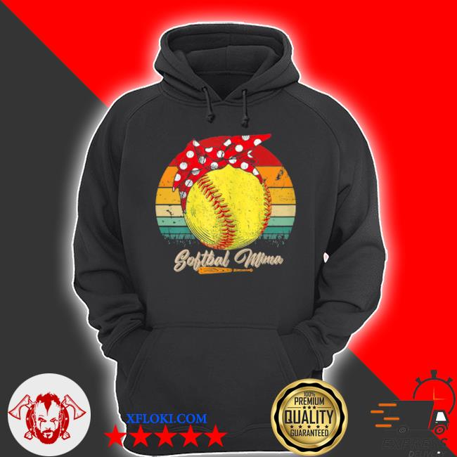 Vintage softball mima mother's day s hoodie