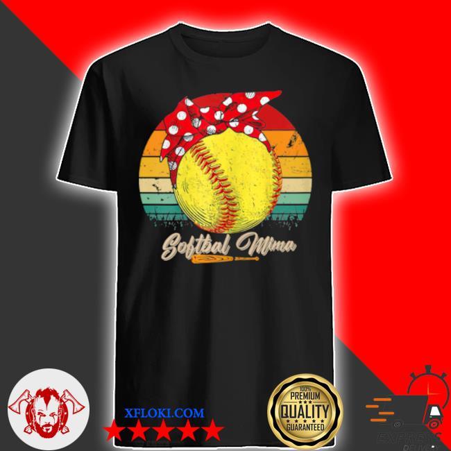 Vintage softball mima mother's day shirt