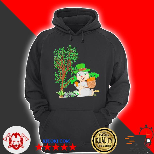 Womens bunny leprechaun hat bunny st. patrick's day new 2021 s hoodie