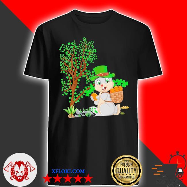 Womens bunny leprechaun hat bunny st. patrick's day new 2021 shirt