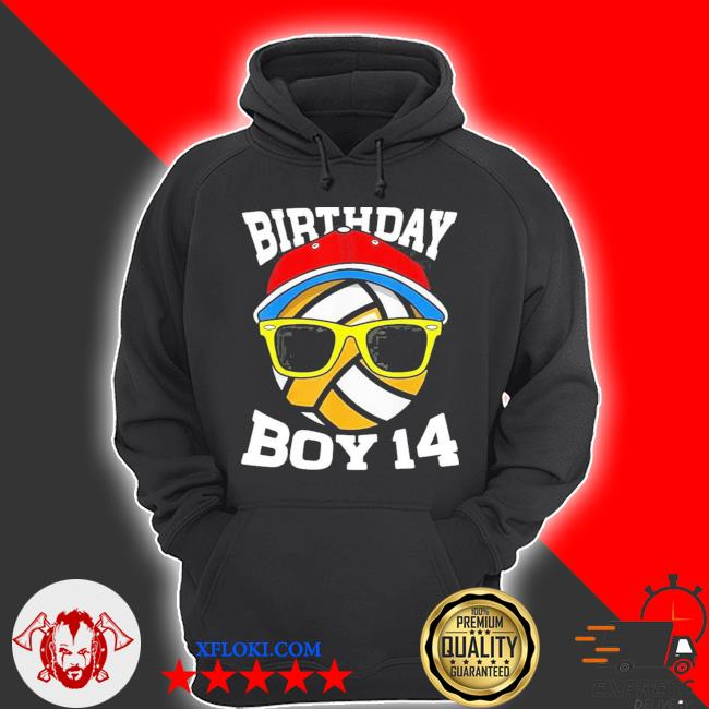 14th birthday boys 14 years old volleyball s hoodie