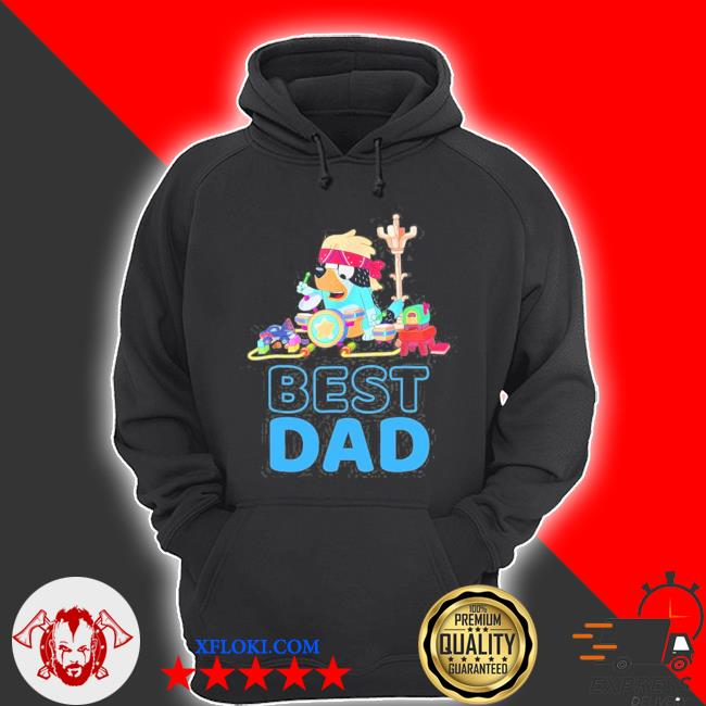 B.l.u.e.y best dad matching family for lover s hoodie