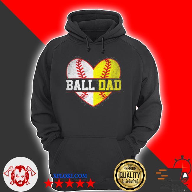 Ball dad softball baseball for men father day s hoodie