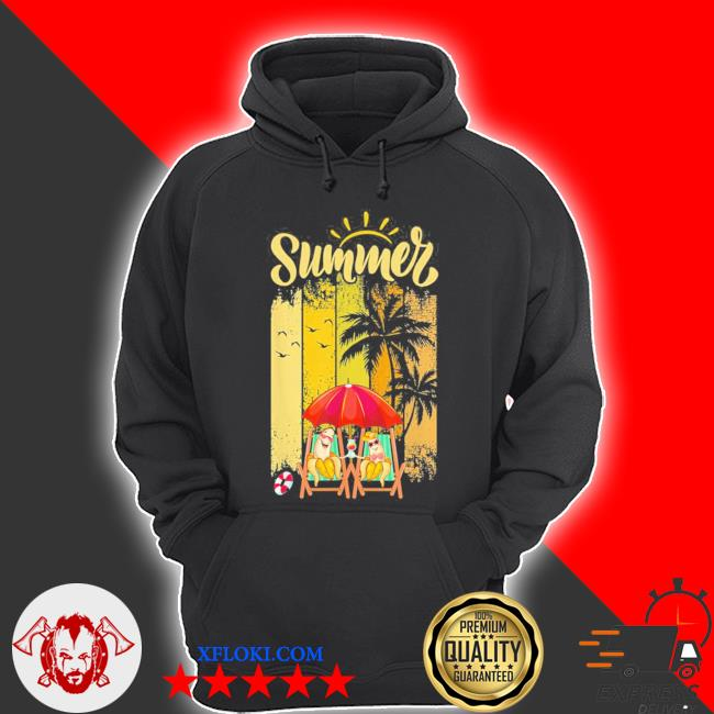 Banana couple in beach funny summer vacation new 2021 s hoodie