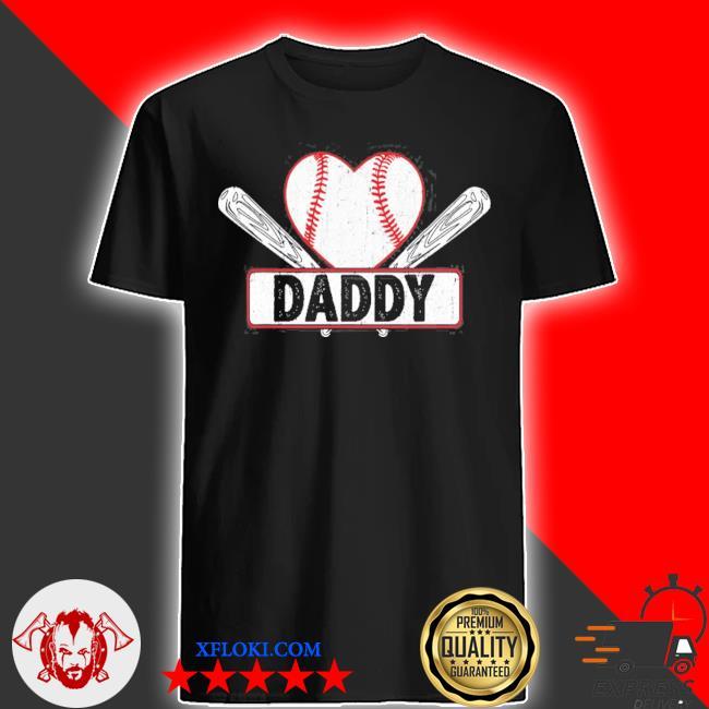 Baseball daddy matching family softball baseball lover shirt
