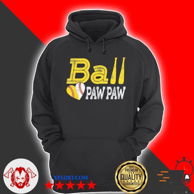Baseball softball ball heart paw paw father's day s s hoodie