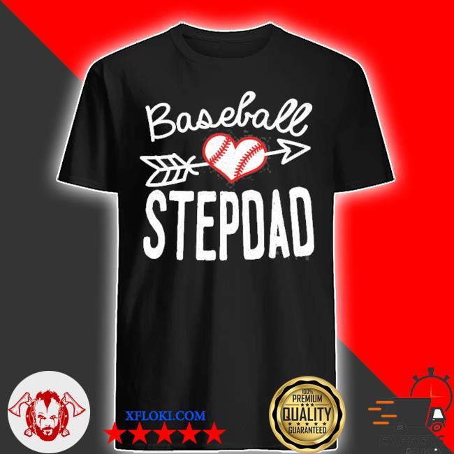 Baseball stepdad christmas shirt