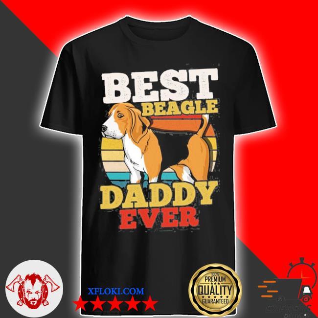 Beagle dad retro shirt