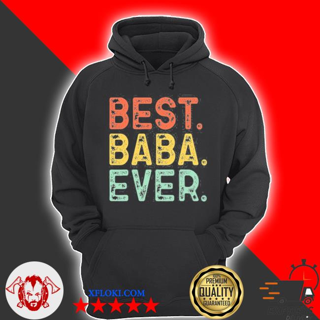 Best baba ever funny gift cool vintage retro father's day s hoodie
