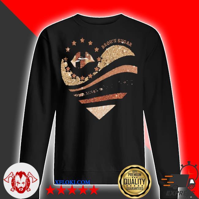 Brown sugar heart diamond s sweater