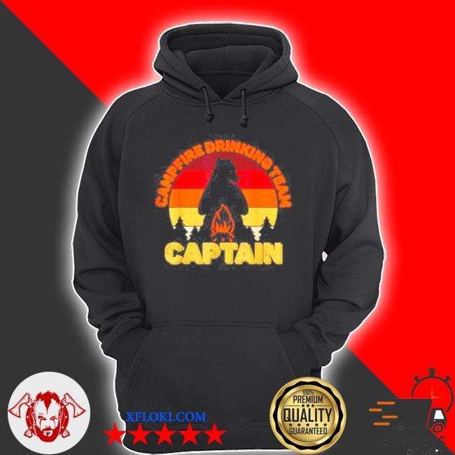 Campfire drinking team captain camping bears vintage s hoodie