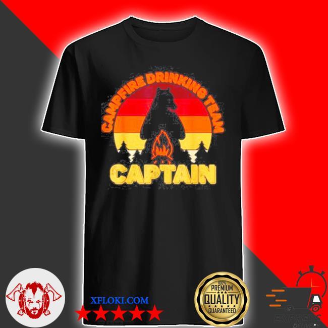 Campfire drinking team captain camping bears vintage shirt