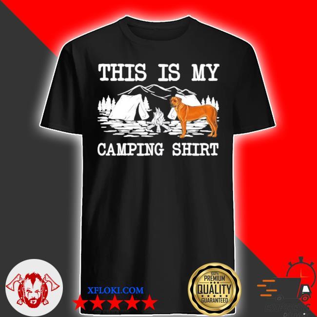 Campfire rhodesian ridgeback dog this is my camping new 2021 shirt