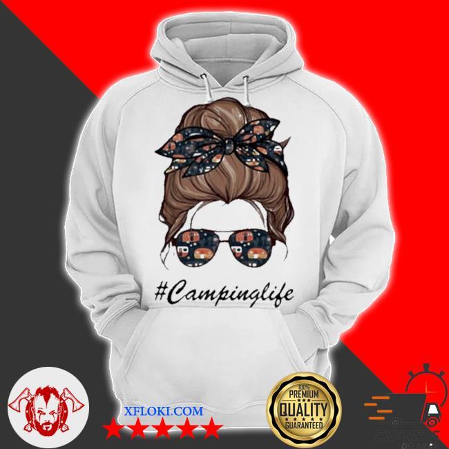 Camping life girl s hoodie