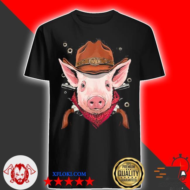 Cowboy pig western rodeo cowboy hat and bandana new 2021 shirt
