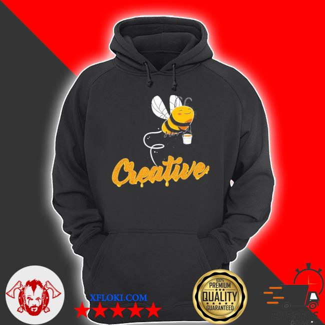 Creative bee smiling honey bee lover s hoodie