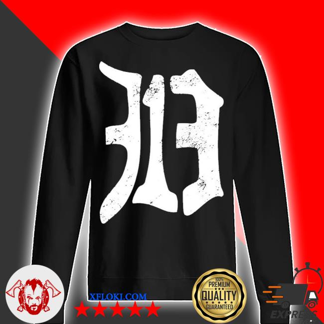 Detroit 313 vintage old english d area code new 2021 s sweater