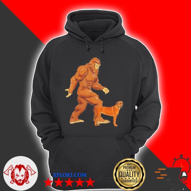 Funny bigfoot walking rhodesian ridgeback sasquatch dog s hoodie