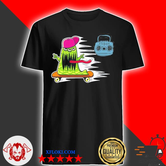 GraffitI monster skateboarding monster radio jamming new 2021 shirt
